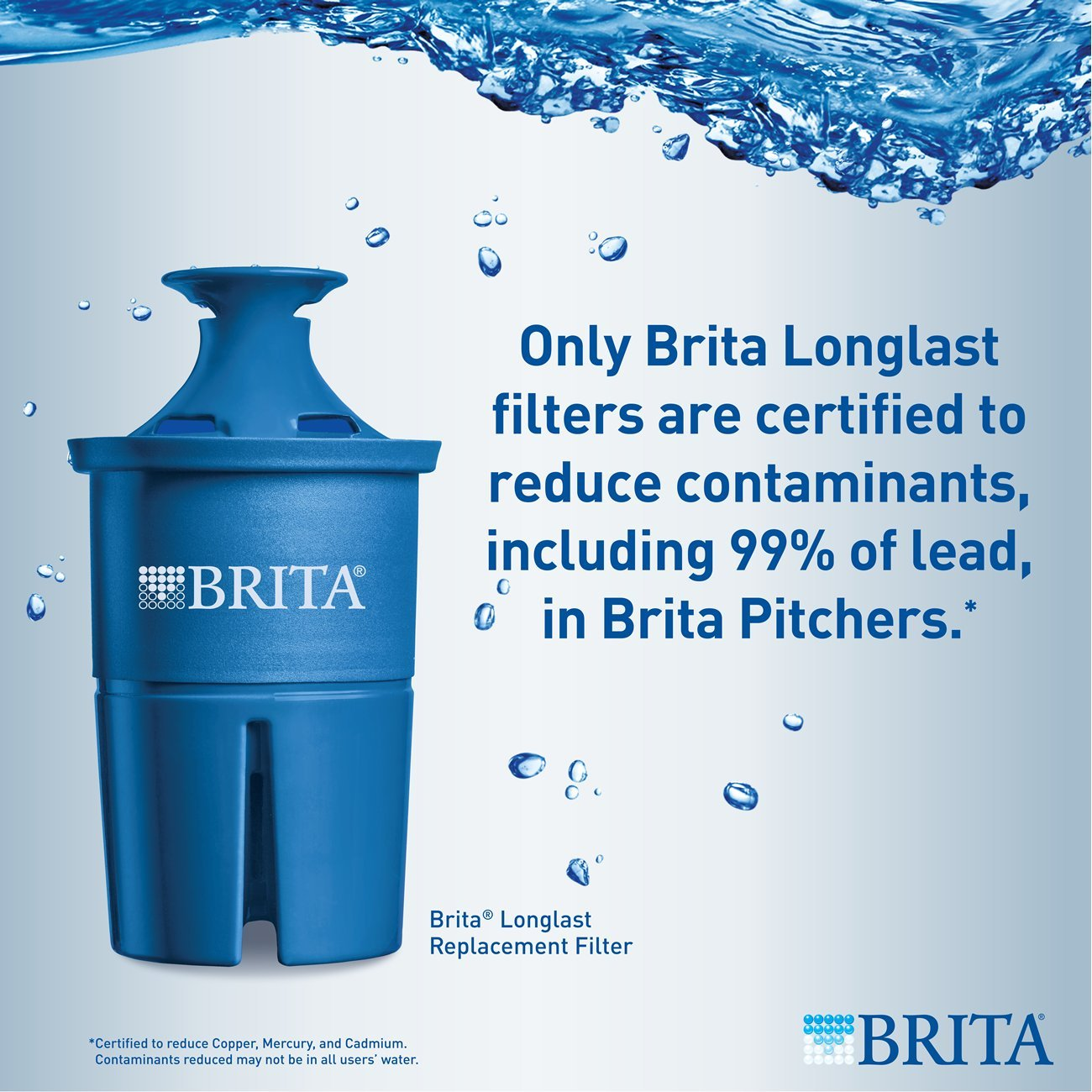 Brita Extra Large 18 Cup Filtered Water Dispenser with 1 Longlast Filter, Reduces Lead, BPA Free – Ultramax, Jet Black by Brita (Image #8)