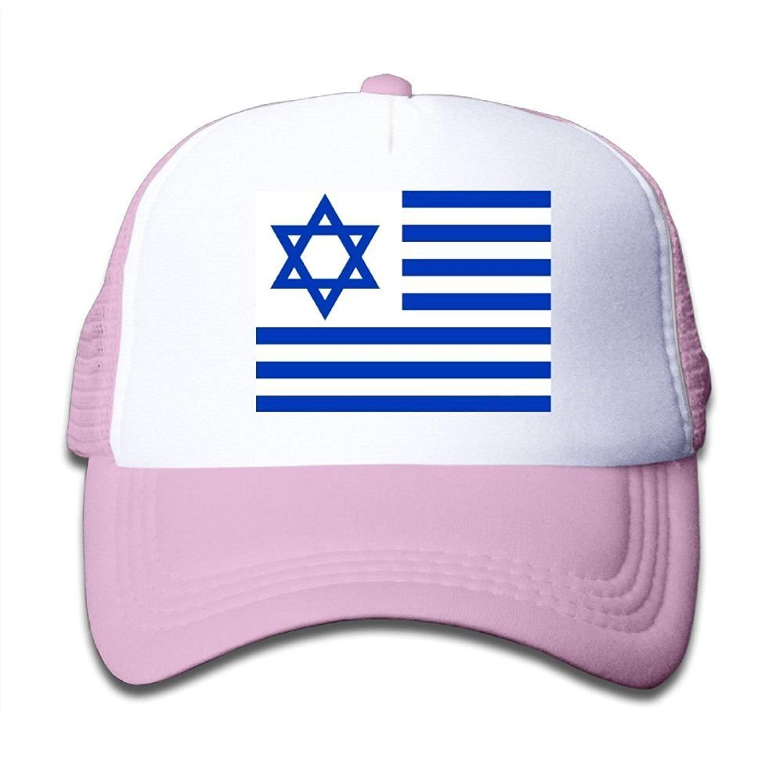 732358f8bfd Israeli Flag Boy   Girl Adjustable Baseball Caps Mesh Hat at Amazon Men s  Clothing store