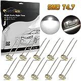 Partsam 10PCS White Instrument Panel LED Lights Gauge Cluster Indicator Bulbs for Chevy GM GMC Buick Cadillac Isuzu Pontiac Ford