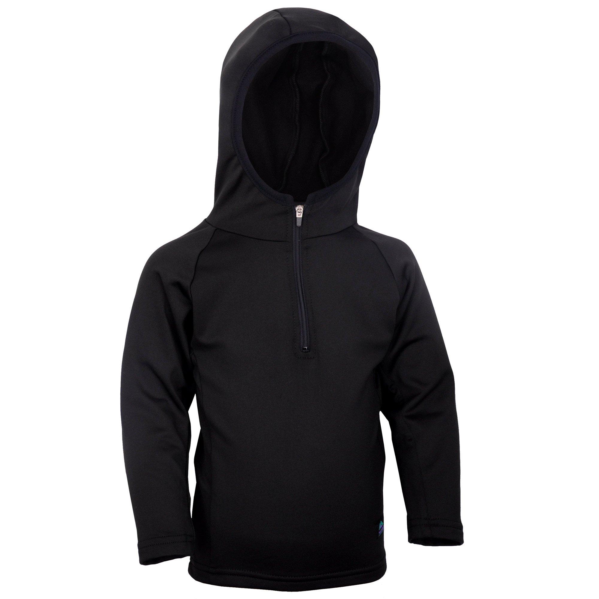 Molehill Kid's 4-Way Stretch Hoodie, Black, 3T by Molehill Mountain