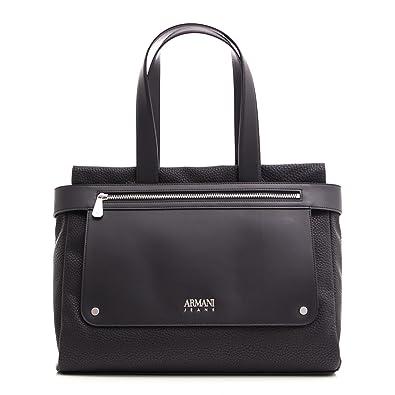 ARMANI JEANS HANDBAG WOMEN BAG SHOPPING 922248 7A790 BLACK  Amazon.co.uk   Shoes   Bags 927702675d475
