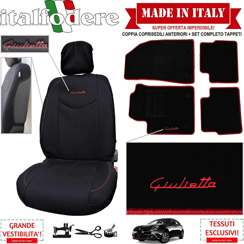 ALFA ROMEO GIULIETTA Schienale Coprisedile Auto Ricamato disponibile più colori!