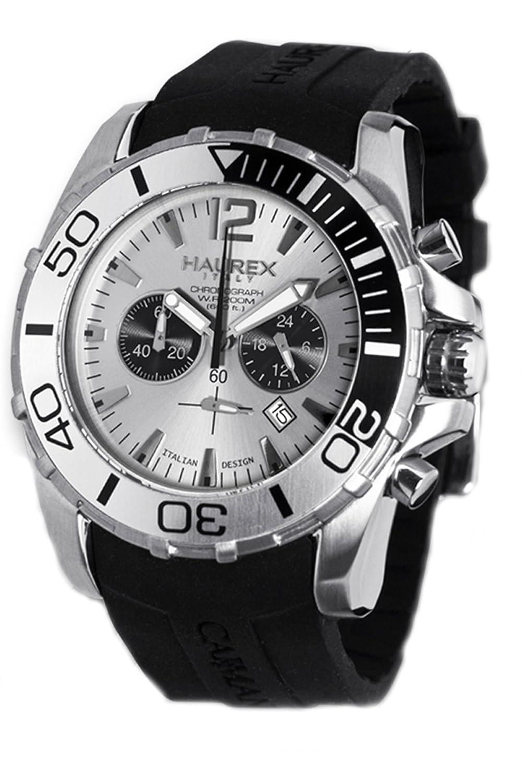 Haurex Italy Herren-Armbanduhr XL Caimano Chronograph Kautschuk 3A354USS