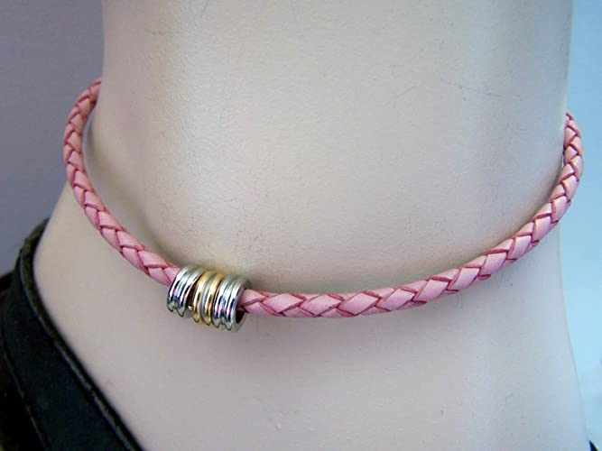 her braided leather anklets dp for anklet girl pink bracelet com amazon teen gift birthday mothers ankle
