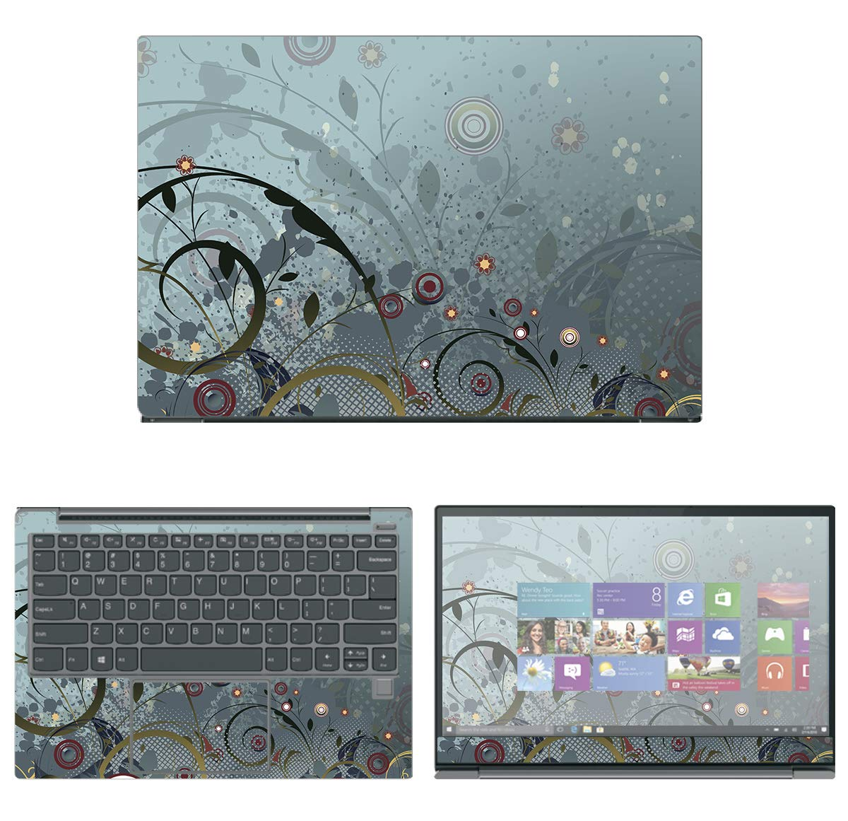 decalrus - Protective Decal Skin Sticker for Lenovo IdeaPad 730S (13.3'' Screen) case Cover wrap LEideaPad730S-103