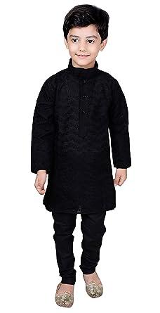 7b018c9fba Desi Sarees - Boys Indian Bollywood sherwani kids children kurta churidar  shalwar kameez Black 844 (