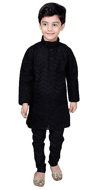Desi Sarees Niños 100% Algodón Negro Inteligente Kurta Salwar Kameez  Sherwani Pijama 844  Amazon.es  Ropa y accesorios 3f60f235a27