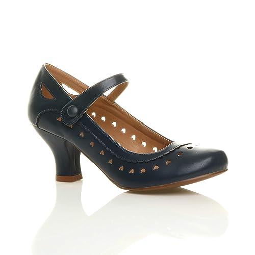 Ajvani - Zapatos de vestir para mujer Azul Navy Matte 40 hdnamnp