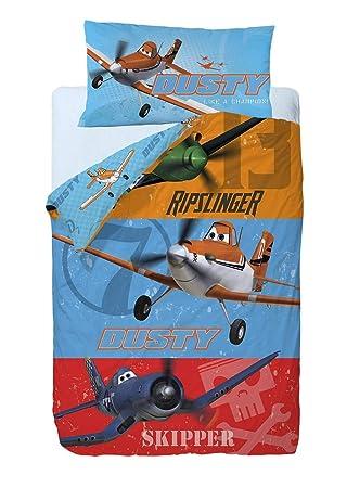 Disney Aviones Heros Saco nórdico de 2 Piezas para Cama de 90 cm, Mezcla De Algodón, 25x90x190 cm: Amazon.es: Hogar