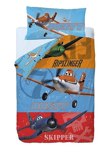 Disney Aviones Heros Saco nórdico de 2 Piezas para Cama de 90 cm Mezcla De Algodón