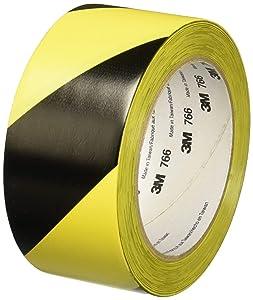 3M Safety Stripe Tape 766 DC, Black/Yellow