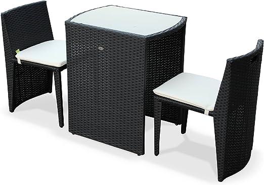 Alices Garden - Conjunto de Mesa y sillas de Jardin Ratan ...