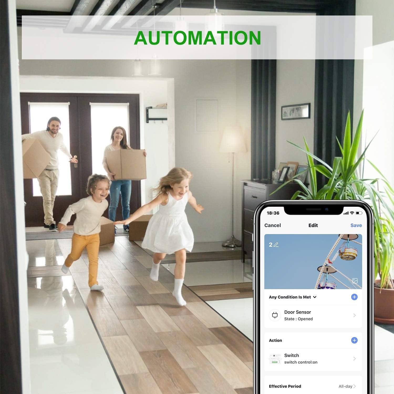 Maxcio Alexa Wifi Lichtschalter Smart Switch Sprachsteuerung mit Alexa Google Assistant Wlan Schalter 1 Pack Fernbedienung mit Smart Life DIY Smart Home Family Sharing 16A//3520W