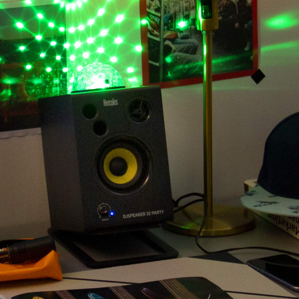 Hercules DJSpeaker 32 Party | 15-Watt RMS monitor speakers with tempo-synced light show by Hercules DJ (Image #7)