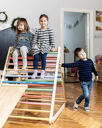 Triángulo de Pikler, Triángulo escalonado, Escalera para niños pequeños, Triángulo de escalada para niños pequeños, Puedes elegir un triángulo sin o con una o dos rampas: Amazon.es: Handmade