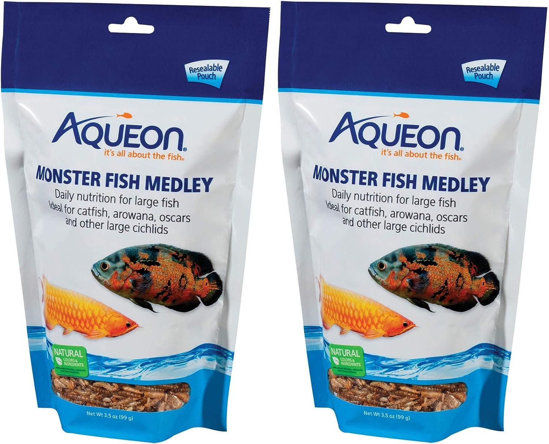 Aqueon Monster Fish Medley Food, 3.5 Ounces