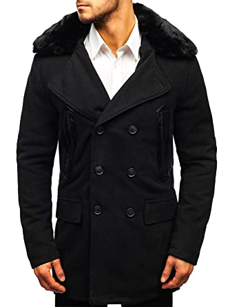 d7eea2cbcb2c BOLF Herren Mantel Wintermantel Wärme Kurzmantel Winterjacke Coat Elegant  4D4  Amazon.de  Bekleidung