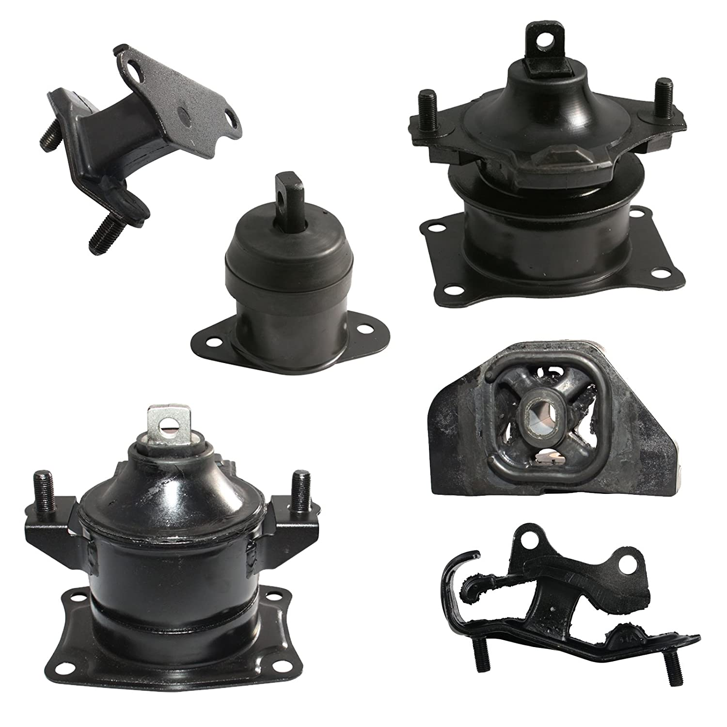 6pc Motor Mounts Set Kit Compatible with 03-07 Honda Accord 3.0L V6 Automatic Auto Transmission 2003 2004 2005 2006 2007 Engine Mounts