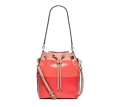 a47c6ed34916 MICHAEL Michael Kors Womens Dottie Leather Colorblock Bucket Handbag Pink  Large  Handbags  Amazon.com