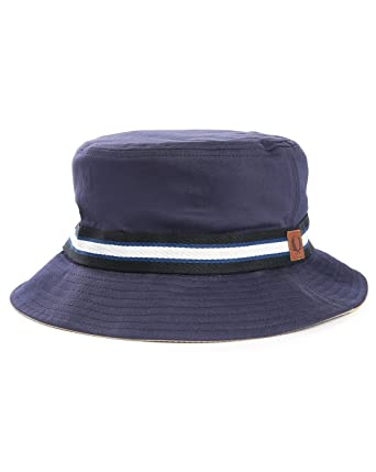 9bd70f16b Fred Perry Reversible Bucket Hat in Stone or Navy Large: Amazon.co ...