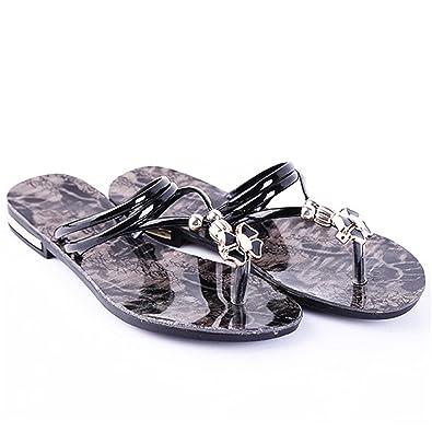 076afbcce Joddie Haha Sandals 2018 Summer Beach Slipper Women Flip Flops Flowers  Fashion Outdside Slippers Female Flat