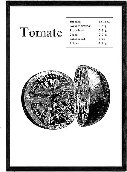 Nacnic Poster de Tomate. Láminas de frutas y verduras. Tamaño A4