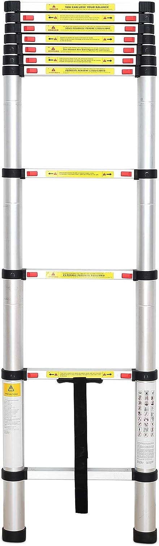 Sotech - Escalera Plegable, Escalera Telescópica, 3,2 Metro(s), EN 131, Carga máxima: 150 kg, Estándar/Certificación: EN131: Amazon.es: Hogar