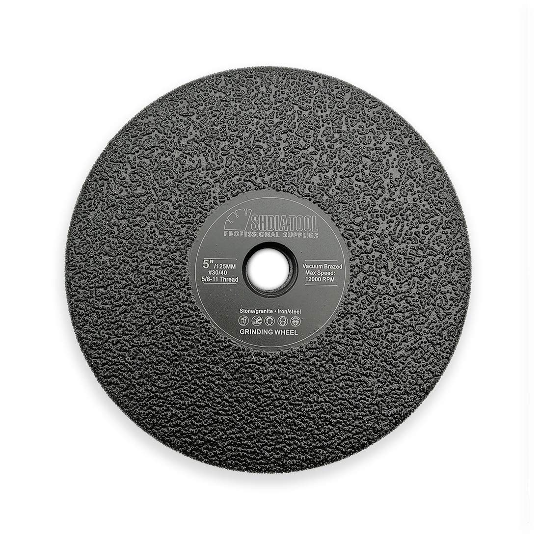 SHDIATOOL Diamond Flat Grinding Wheel Diameter 5 Inche 5/8-11 Thread Shaping or Beveling Granite Marble Concrete