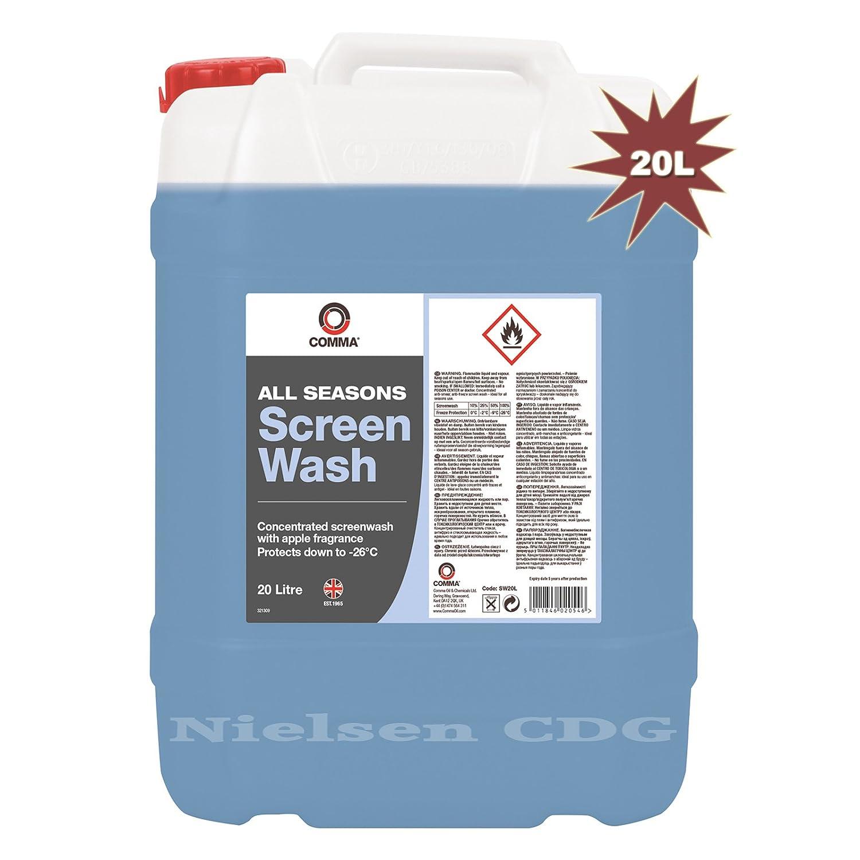 Comma sw20l Todas Las Estaciones limpiaparabrisas, 20 litros: Amazon ...