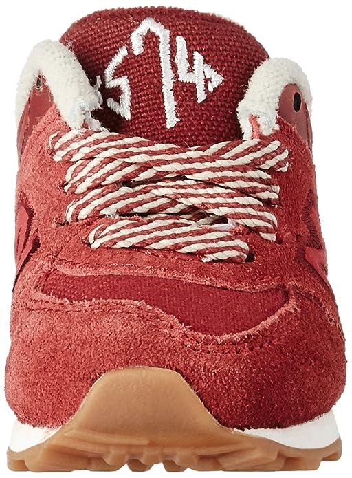 New Balance KL574V1 Pre Collegiate Pack Fashion Sneaker (Little Kid), Red/Yellow, 1 M US Little Kid