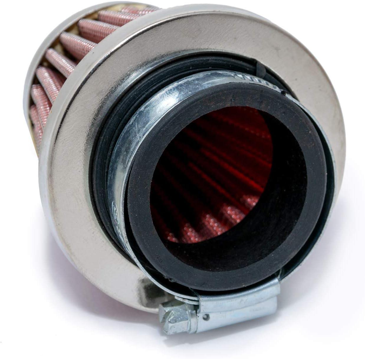 35mm Anschlussweite Sport Luftfilter Stahlgewebe f/ür 17.5mm Vergaser Maxtuned