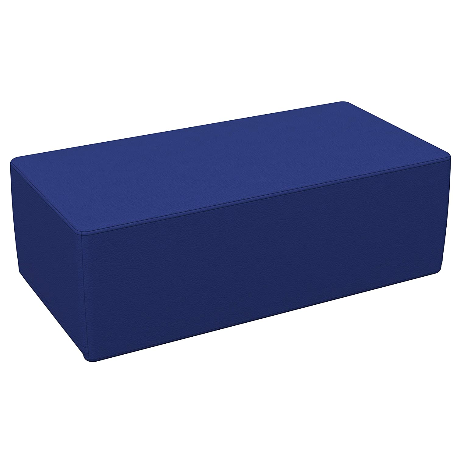 """FDP SoftScape 18"""" x 36"""" Rectangle Ottoman, Collaborative Flexible Seating for Kids, Teens, Adults Furniture for Classrooms, Libraries, Offices and Home, Junior 12"""" H - Blue"""