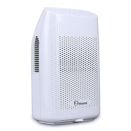 Ovonni 2L Deshumidificador Electrico Portátil, 750 ml deshumidificación diario, Bajo consumo, Auto-