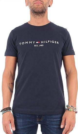 TALLA M. Tommy Hilfiger Core Tommy Logo tee Camiseta para Hombre