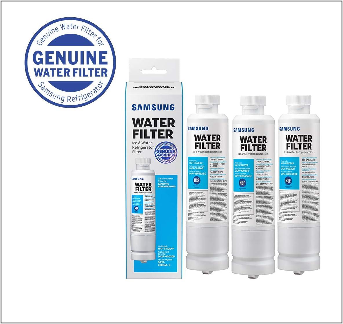 Samsung Electronics HAFCIN Samsung DA29-00020B Refrigerator Water Filter, 3 Pack, White: Kitchen & Dining