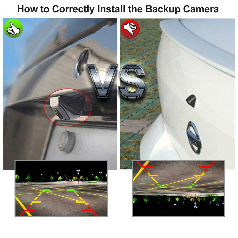 Car Rover C/ámara de Reserva de Camiones Inal/ámbricos Sistema de Aparcamiento con 7 HD TFT Monitor