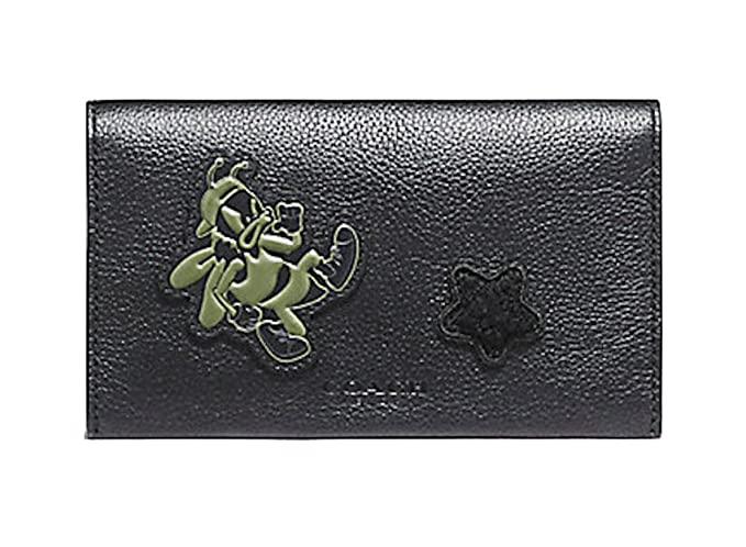 961e677f3d01 COACH UNIVERSAL PHONE CASE IN SMOOTH CALF LEATHER WITH VARSITY PATCHES/コーチ  スマートフォンケース F12006