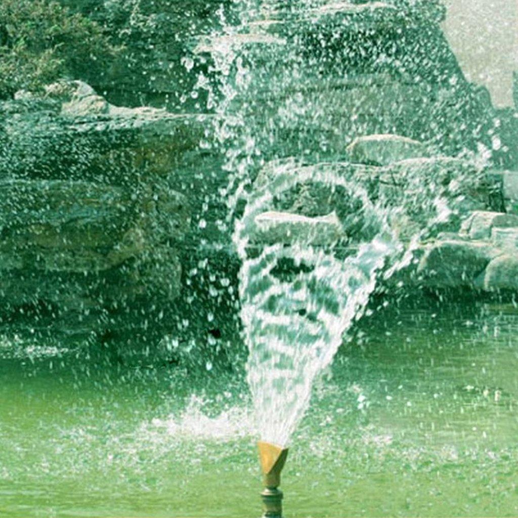 Homyl 4Pcs Brass Fan Shape Jet Water Fountain Nozzle Spray Sprinkler Head Set, Full body brass construction by Homyl (Image #5)