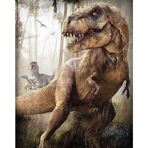 5D Diy Diamante Pintura Animal Dinosaurio Patrones De Bordado Kits ...