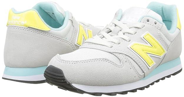 New Balance ML Wl373V1, Sneakers Basses Femme, Blanc (White/Yellow/Green), 37.5 EU