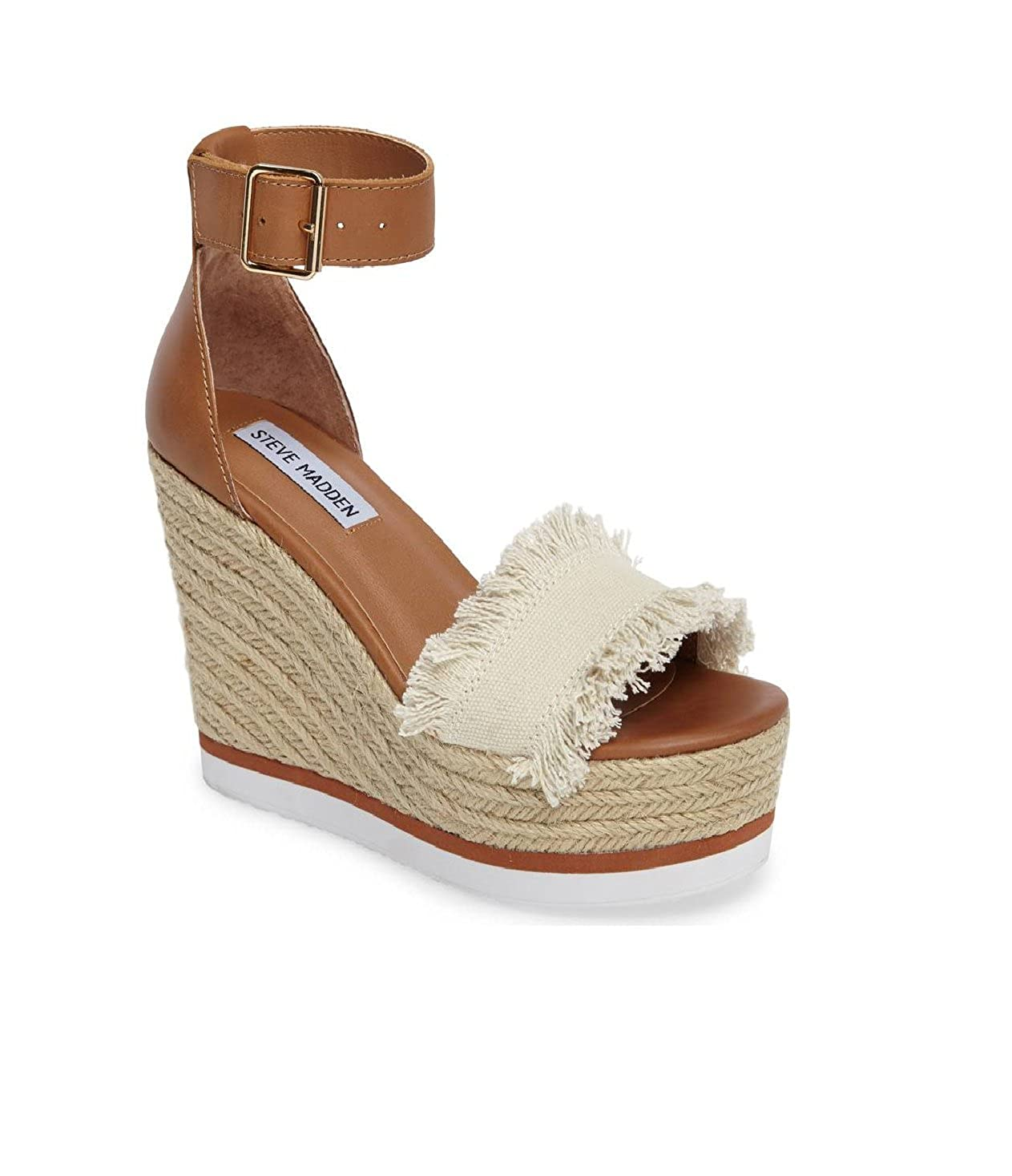 Steve Madden Valley Fringed Platform Wedge Sandal, Beige (11 B(M) US,  Beige): Amazon.ca: Shoes & Handbags