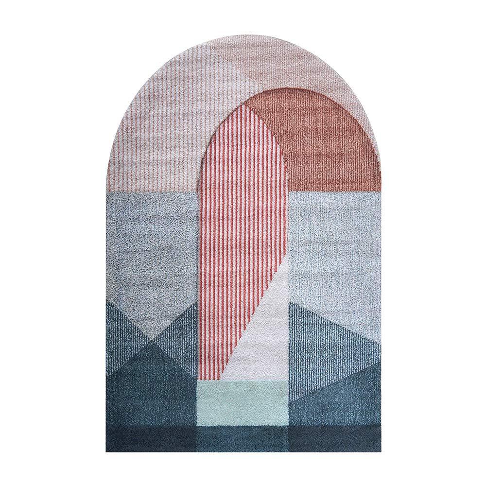 ノルディックスタイルのリビングルーム幾何学的な抽象的なカーペットシンプルなモダンなベッドルームのベッドサイドのコーヒーテーブルマットアート (色 : マルチカラー まるちから゜, サイズ さいず : 200cm×290cm) 200cm×290cm マルチカラー まるちから゜ B07KKFNFCW