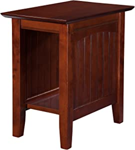 Atlantic Furniture Nantucket Chair Side Table, Walnut