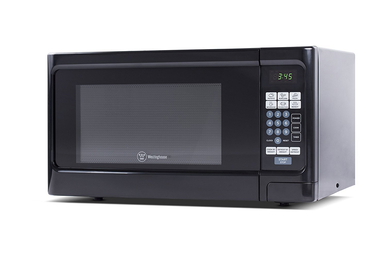 Microwave Oven Compact Countertop Electric Black 1000 Watt 1.1 cu. ft. Cookware With Free Pot Holders