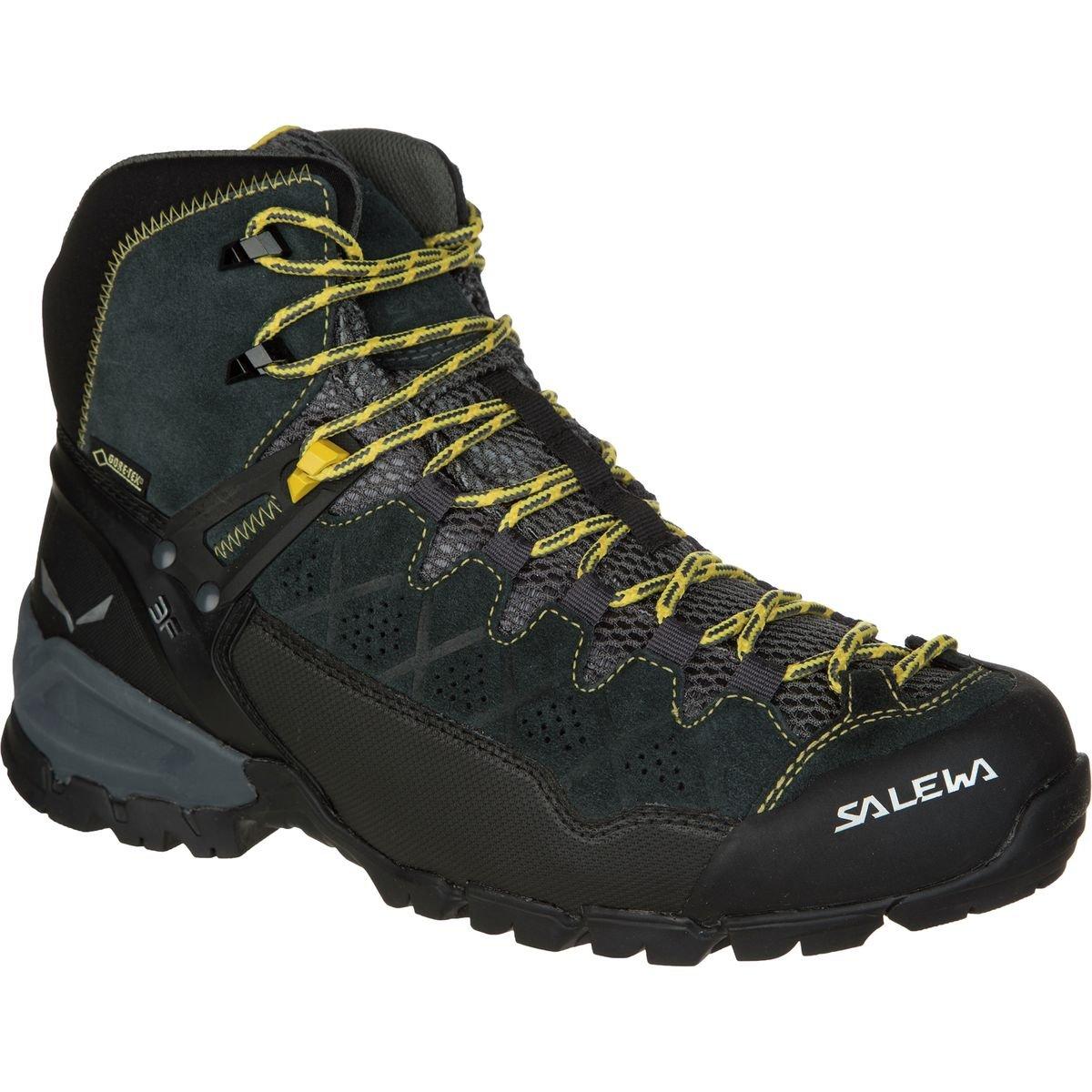 Salewa Men's ALP Trainer Mid GTX Alpine Trekking Boot, Carbon/Ringlo, 13 D US