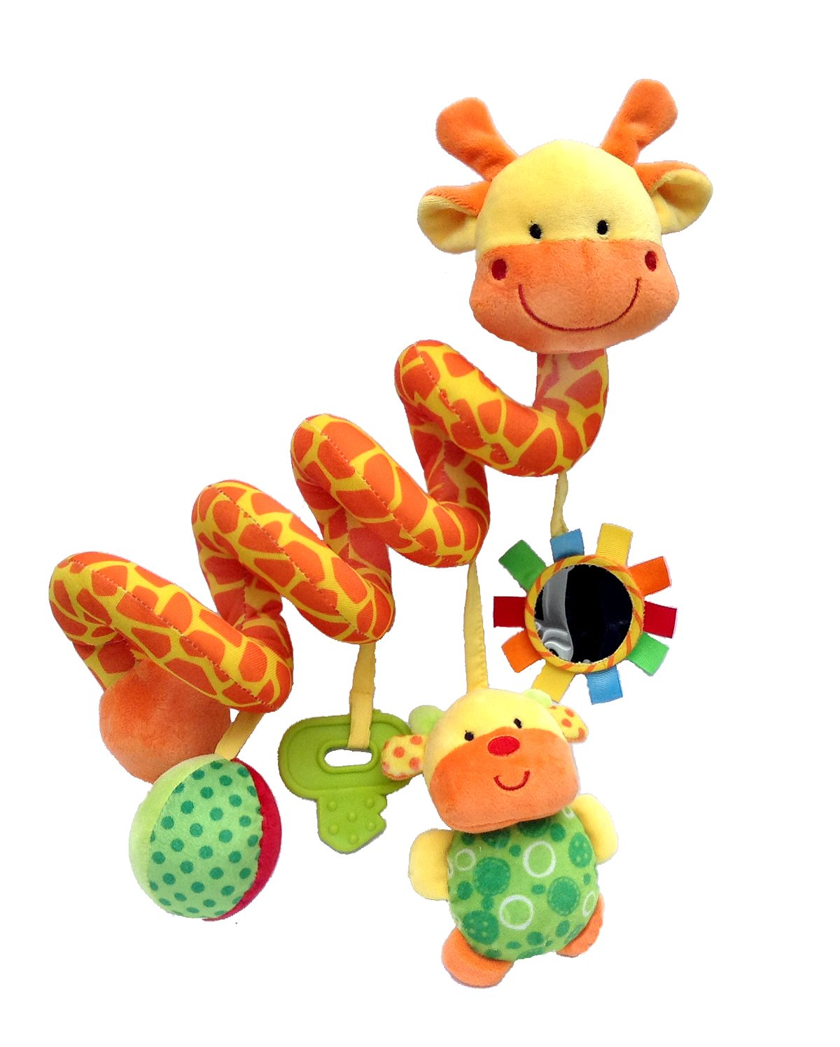 Crib Critters Giraffe Baby Crib Toy From Wraps Around Crib Rail or Stroller - Baby Toy for Babies 3 to 6 Months and Older