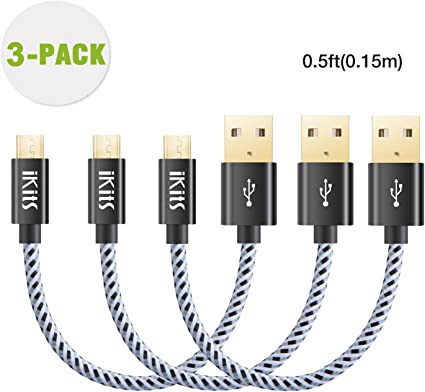 Metal stand USB 2.0 A female to Micro USB 5pin male plug Flexible Cable Premium