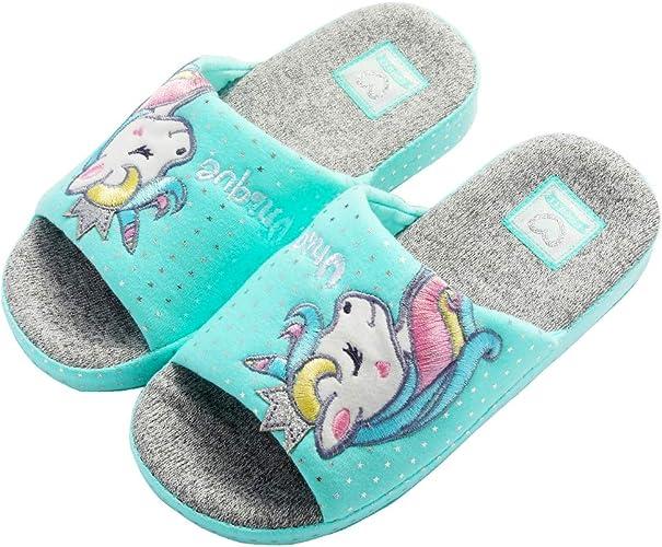 Anddyam Kids Family Unicorn Slippers Household Anti-Slip Indoor Home Slippers for Girls and Boys