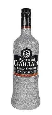 Russian Standard Vodka 70cl (40% Vol) Bling Bling Glitzerflasche in silber -[Enthält Sulfite]