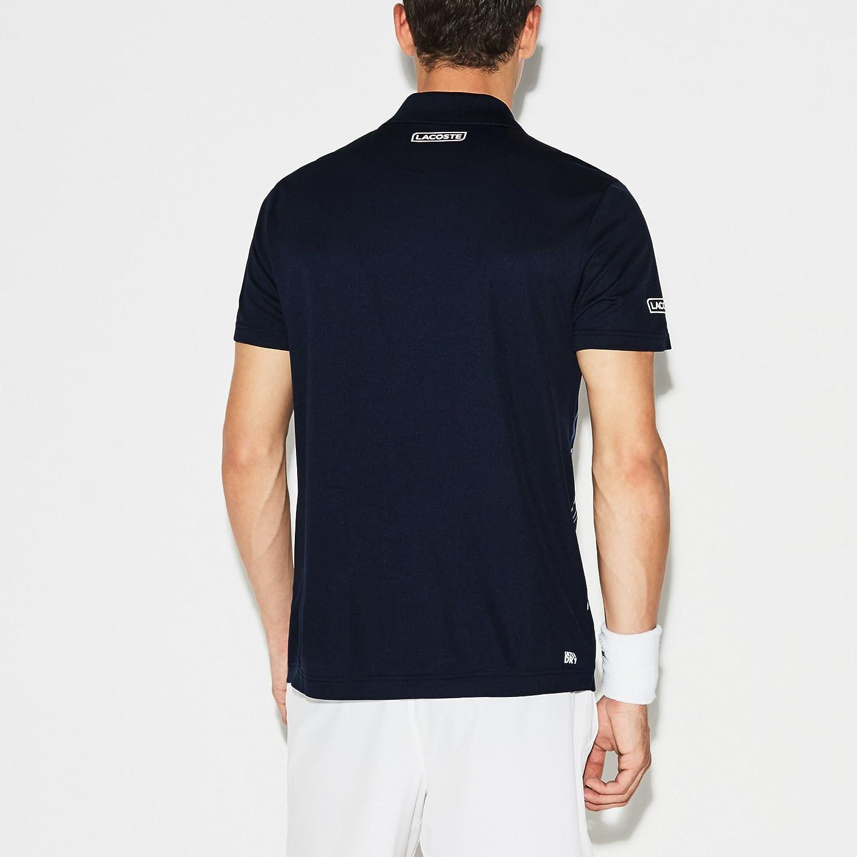 Lacoste Striped Novak Djokovic Polo, Marine - Orange - weiß ...